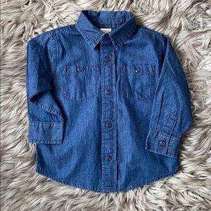 3/$18 Gymboree Denim Shirt